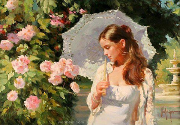 Cô gái có một bông hồng