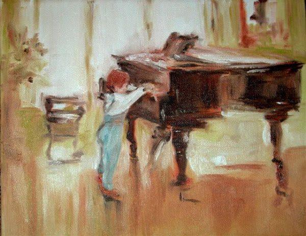 Cậu bé và chiếc đàn dương cầm