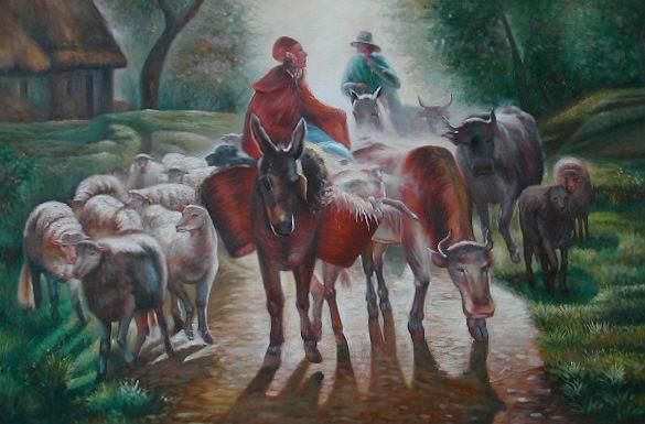 Câu chuyện giữa Lừa và Bò trong trang trại của một Chủ nô